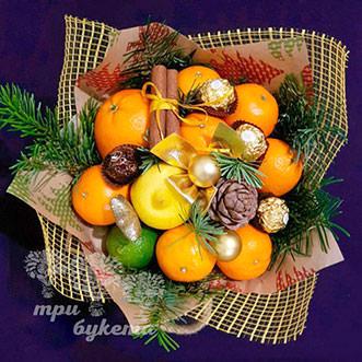 Новогодний букет цитрусовый
