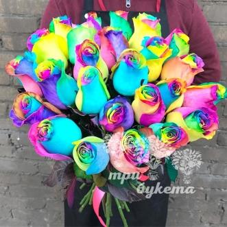 Букет из 27 радужных роз